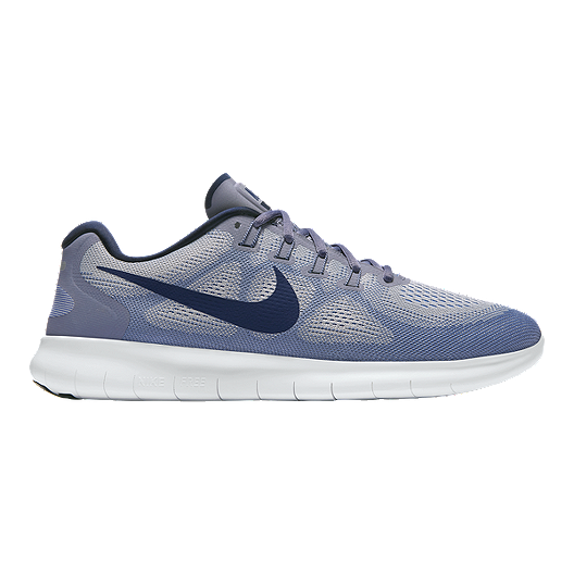 c1b31710d45 Nike Men s Free RN 2017 Running Shoes - Grey Binary Blue
