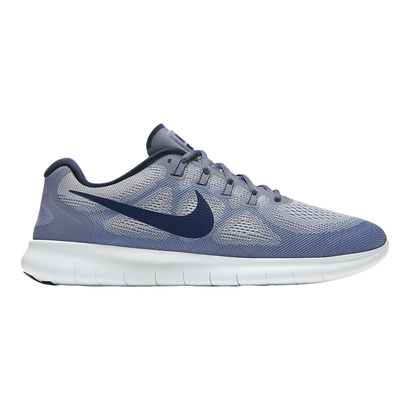 b7587e967fe0 Nike Men s Free RN 2017 Running Shoes - Grey Binary Blue