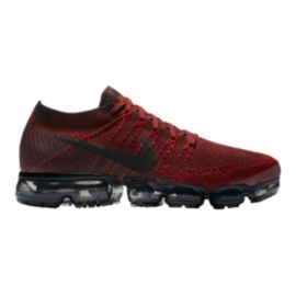 Nike Men's Air VaporMax FlyKnit Running Shoes - Dark Red/Black