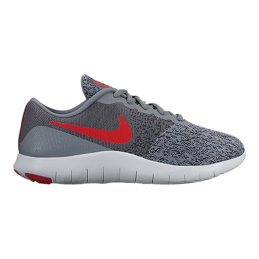 b0adcf44e5ff Nike Kids  Flex Contact Grade School Shoes - Grey Red Anthracite ...