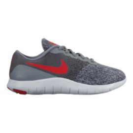 Nike Kids' Flex Contact Grade School Shoes - Grey/Red/Anthracite
