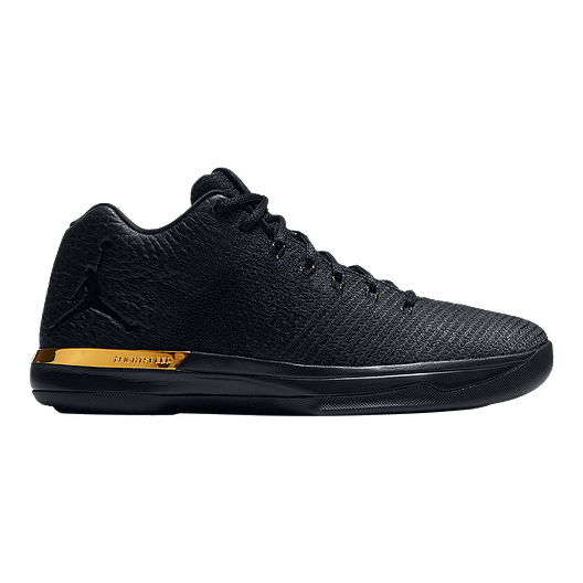 hot sale online 3137d 15e9f Nike Men s Jordan XXXI Low Basketball Shoes - Black Metallic Gold   Sport  Chek