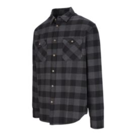 Burton Men's Brighton Flannel Long Sleeve Shirt -  True Black Buffalo