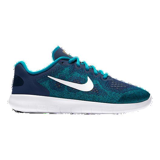 8a5ade18f0ff Nike Kids  Free RN 2017 Grade School Shoes - Green Blue Orange ...