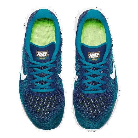 61e69e5ccd510 Nike Kids  Free RN 2017 Grade School Shoes - Green Blue Orange. (0). View  Description