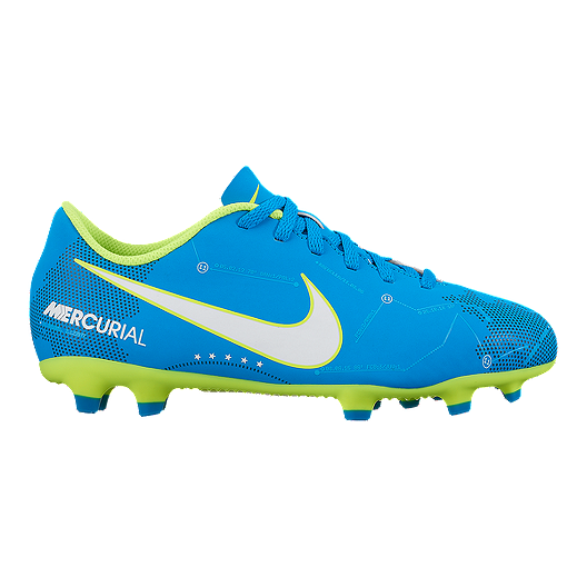 c85191649 Nike Kids  Mercurial Vortex III Neymar Jr FG Soccer Cleats - Blue White