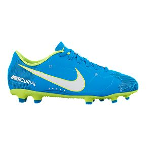 90e6a6037ea Nike Kids  Mercurial Vortex III Neymar Jr FG Soccer Cleats - Blue White
