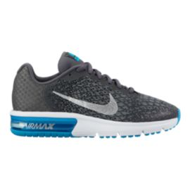 Nike Kids' Air Max Sequent 2 Grade School Shoes - Grey/Silver/Black