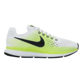 Nike Kids' Zoom Pegasus 34 Grade School Shoes - White/Black/Green