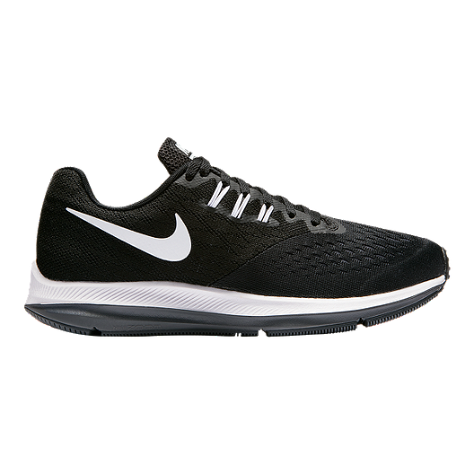 7514927ba61 Nike Women s Zoom Winflo 4 Running Shoes - Black White