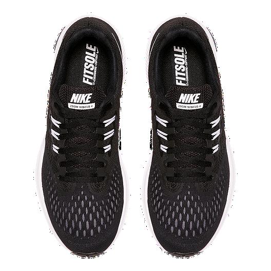 best sneakers cf33e da796 Nike Women's Zoom Winflo 4 Running Shoes - Black/White