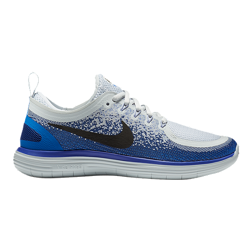premium selection a7bf8 a6359 Nike Women's Free RN Distance 2 Running Shoes - Grey/Blue ...