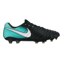 Nike Women's Tiempo Legend VII FG Outdoor Soccer Cleats - Black/Aqua