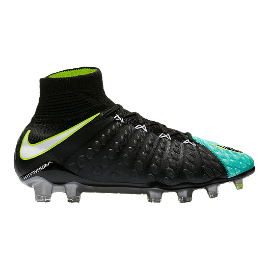 60eec7eab5a8 Nike Women s Hypervenom Phantom III DF FG Outdoor Soccer Cleats -  Black Aqua
