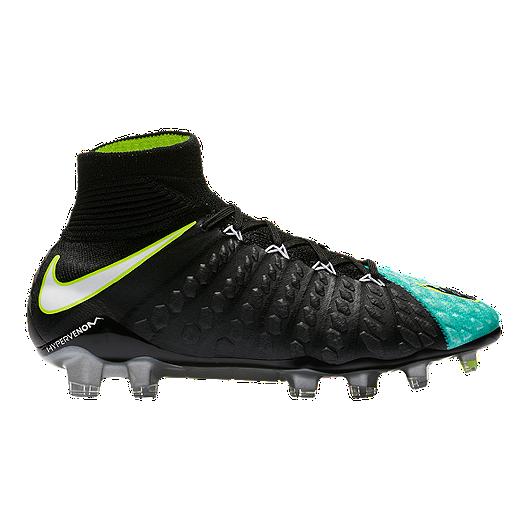 wholesale dealer 4ea63 2de50 Nike Women s Hypervenom Phantom III DF FG Outdoor Soccer Cleats - Black Aqua    Sport Chek
