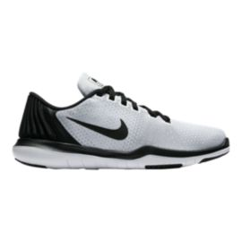 Nike Girls' Flex Supreme Grade School Shoes - Black/White