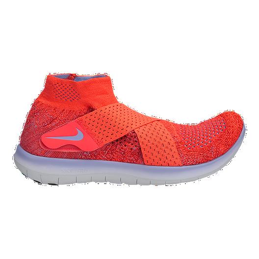 b4a88edde4b1 Nike Women s Free RN Motion Flyknit 2017 Running Shoes - Red Purple ...