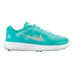 Nike Girls  Free RN 2017 Grade School Shoes - Green White  fe04c22334a3