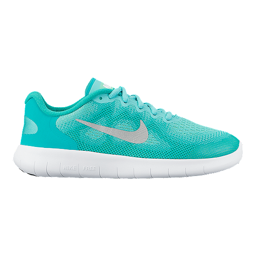 3d334a8921 Nike Girls' Free RN 2017 Grade School Shoes - Green/White | Sport Chek