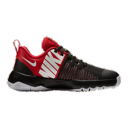 super popular 252b7 a662f Nike Kids  Team Hustle D 8 Quick Grade School Shoes - Black University Red    Sport Chek