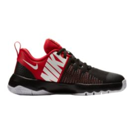 Nike Kids' Team Hustle D 8 Quick Grade School Shoes - Black/University Red