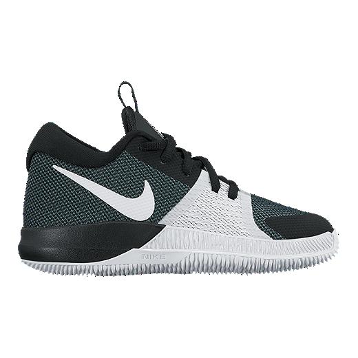 81b752e38 Nike Kids  Zoom Assertion Grade School Basketball Shoes - Black White -  BLACK