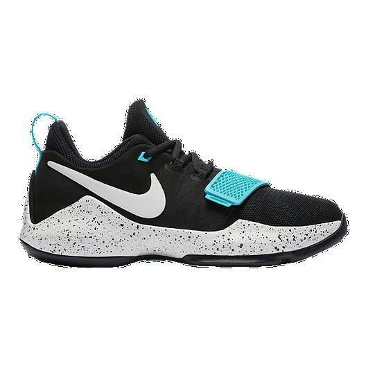 a12973f06c6 Nike Kids  PG1 Grade School Basketball Shoes - Black Bone Aqua ...