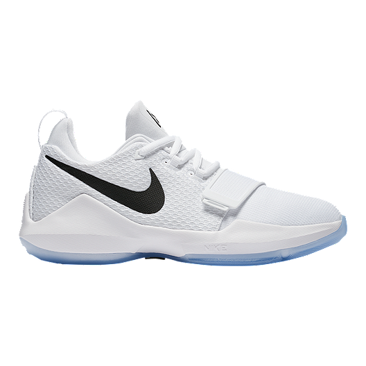 a21f418a5617 Nike Kids  PG1 Grade School Basketball Shoes - White Chrome