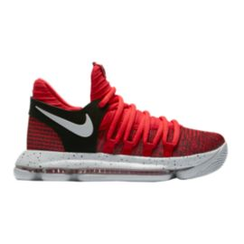 Nike Kids' Zoom KDX Grade School Basketball Shoes - Red/Platinum