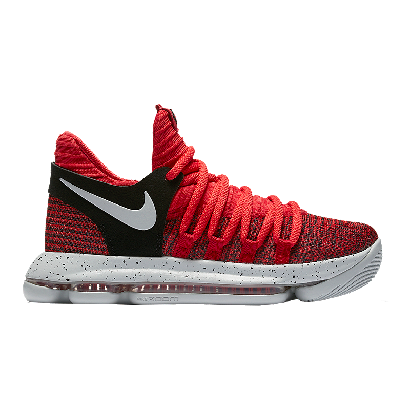 Nike Kids  Zoom KDX Grade School Basketball Shoes - Red Platinum ... 091454821