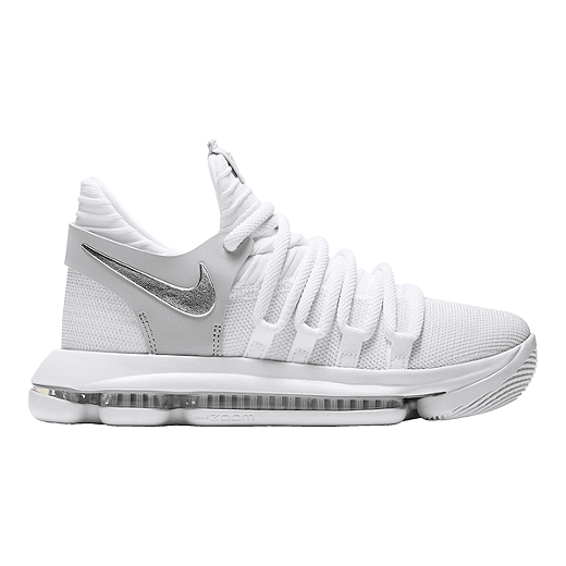new products 2b805 44f5a Nike Kids' Zoom KDX Grade School Basketball Shoes - White ...