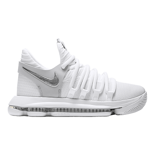896baa8ce760 Nike Kids  Zoom KDX Grade School Basketball Shoes - White Chrome ...