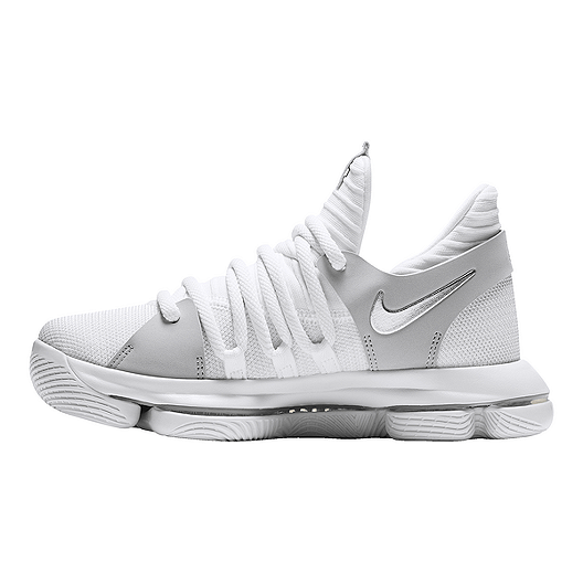 new products 67337 7c1f8 Nike Kids' Zoom KDX Grade School Basketball Shoes - White ...