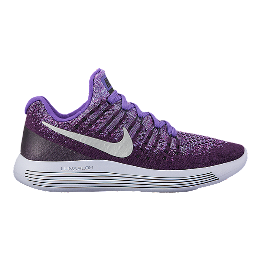 886274a7756eb Nike Girls' Lunarepic Flyknit Grade School Shoes - Black/White - NIGHT  PURPLE/