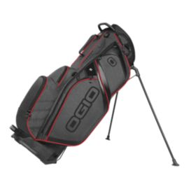 Ogio Silencer Stand Bag -  Dark Static/Red