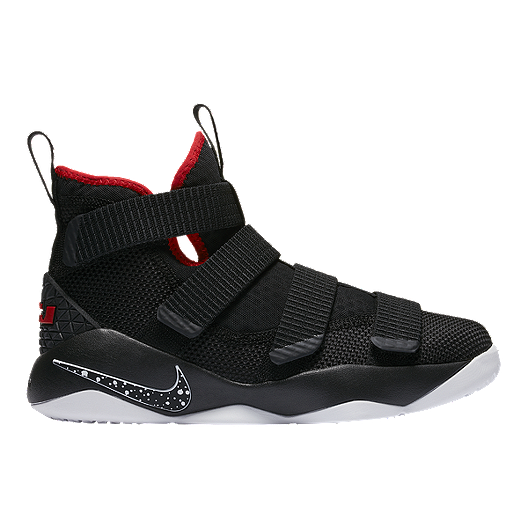 huge selection of abff3 cb5ac Nike Kids  Lebron Soldier XI Grade School Basketball Shoes - Black Red White    Sport Chek