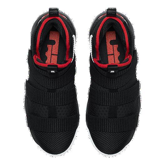 pretty nice 75440 fc77b Nike Kids  Lebron Soldier XI Grade School Basketball Shoes - Black Red White.  (2). View Description