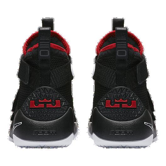 3e2a3aa80c01 Nike Kids  Lebron Soldier XI Grade School Basketball Shoes -  Black Red White. (2). View Description