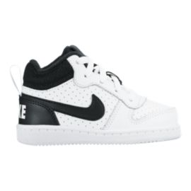 Nike Toddler Court Borough Mid Shoes - White/Black