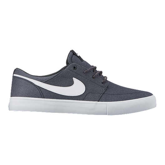 be5cf62335f Nike Men s SB Portmore II Canvas Skate Shoes - Anthracite White Black