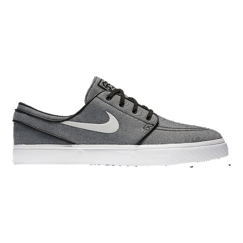 6a628a197730 Nike Men s Stefan Janoski Canvas Skate Shoes - Black Sail