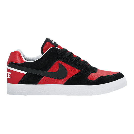 5eef8625a097 Nike Men s SB Zoom Delta Force Skate Shoes - Black Red White