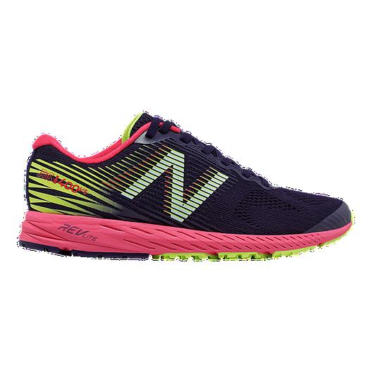 ae7c7b4231981 New Balance Women's 1400v5 B Width Running Shoes - Dark Navy/Cherry/Lime |  Sport Chek