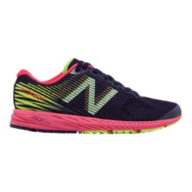 New Balance Women's 1400v5 B Width Running Shoes - Dark Navy/Cherry/Lime