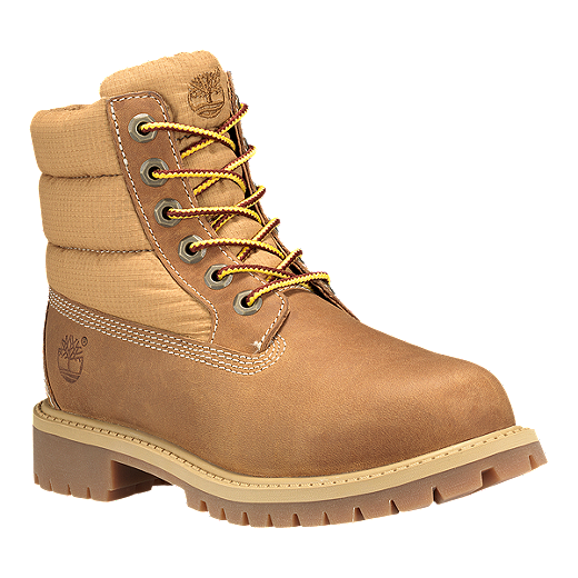 Timberland Kids' 6 Inch Icon Quilt Grade School Boots - Wheat ... : timberland quilted boots - Adamdwight.com