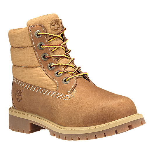 0322ae06a0c2 Timberland Kids  6 Inch Icon Quilt Grade School Boots - Wheat ...