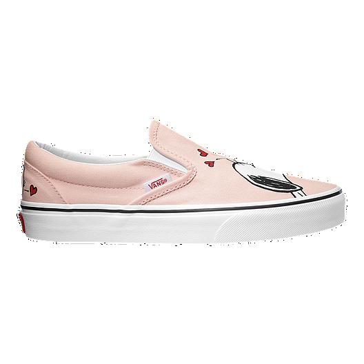d742df6d555 Vans Classic Peanuts Slip-On Shoes - Smack Pearl