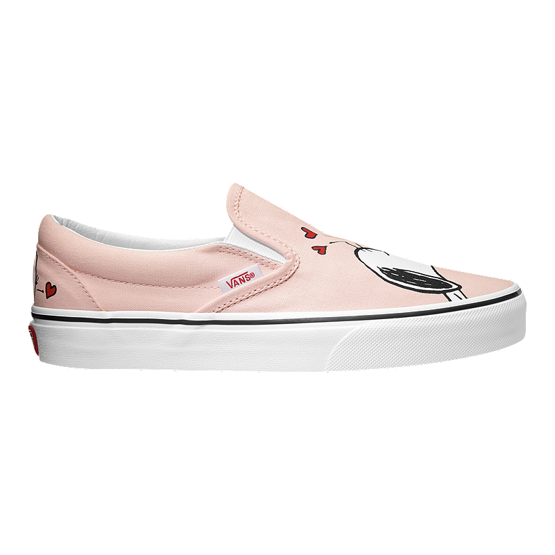 580770beef746a Vans Classic Peanuts Slip-On Shoes - Smack Pearl