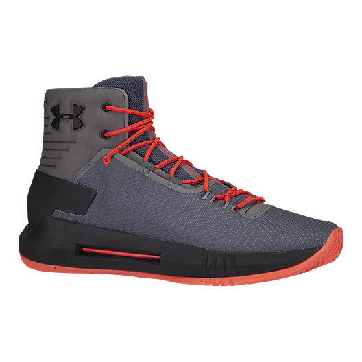 ab8af4c96dd Under Armour Men s Drive 4 Basketball Shoes - Grey Black