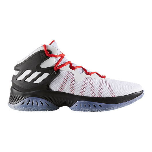 27aafac03935c adidas Men s Explosive Bounce Basketball Shoes - Black White Grey ...
